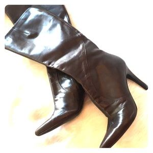Nine West leather stiletto boots